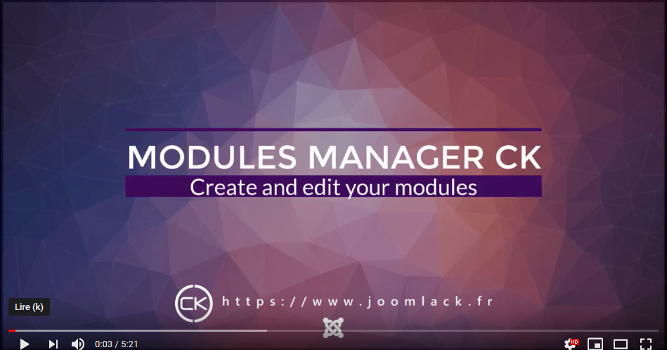 video modules manager joomla